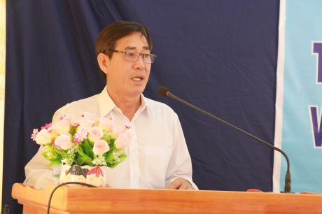 Ông Đỗ Văn Sáu – TGĐ Gỗ Tây Ninh, đơn vị khối trưởng năm 2020 phát biểu tại
