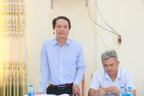 Ông Phan Viết Phùng – Trưởng Ban Tuyên giáo Thi đua VRG phát biểu tại hội nghị
