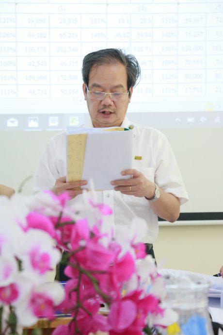 Ông Phạm Phi Điểu – TGĐ KCN Bắc Đồng Phú, đơn vị khối trưởng báo cáo tại hội nghị