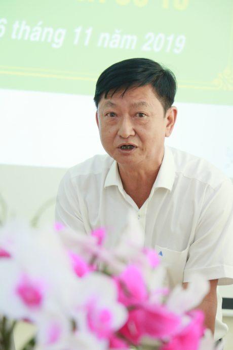 Ông Nguyễn Văn Phước – Phó TGĐ Công ty CP KCN Long Khánh, đơn vị khối trưởng năm 2020 phát biểu tại hội nghị