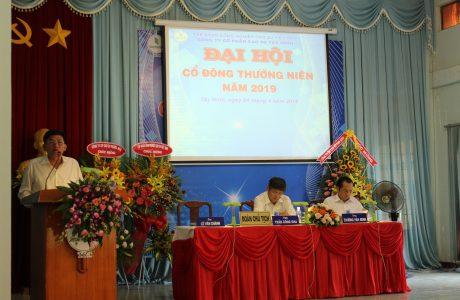 Ông Lê Văn Chành – TGĐ Công ty CPCS Tây Ninh phát biểu tại đại hội.
