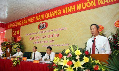 Đồng chí Trần Ngọc Thuận phát biểu chị đạo tại đại hội