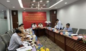 Các đại biểu tham gia, đóng góp ý kiến tại buổi làm việc