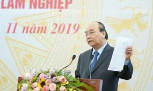 Thủ tướng phát biểu tại Hội nghị sơ kết 5 năm thực hiện Nghị quyết số 30-NQ/TW của Bộ Chính trị. Ảnh: VGP/Quang Hiếu