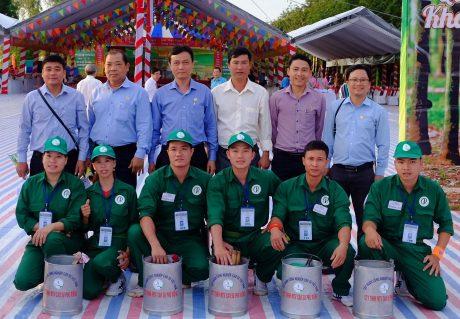 Lãnh đạo, Ban huấn luyện và đội thi Cao su Phú Riềng tại Hội thi Bàn tay vàng cấp ngành năm 2018