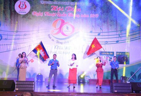 tiết mục Việt Nam - Campuchia Samaki của Cao su Phước Hòa Kampong Thom