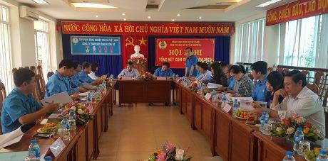 Quang cảnh hội nghị Tổng kết Công đoàn cụm thi đua số II Tây Nguyên