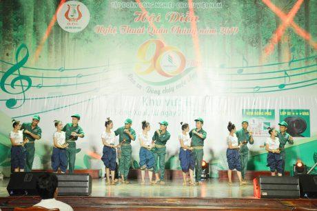 Tiết mục ngày vui lao động của Cao su Tân Biên Kampong Thom