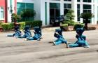 Nữ dân quân tự vệ Cao su Phú Riềng trên thao trường