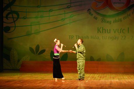Tiết mục Song ca Hát với núi rừng đạt giải vàng của Cao su Lai Châu II