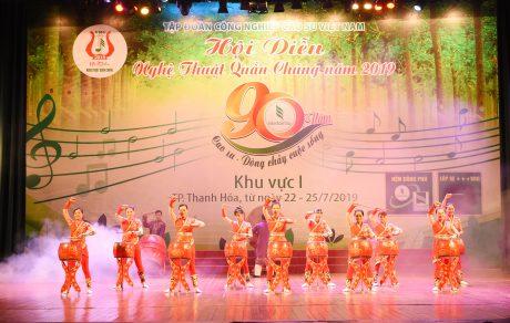 Tiết mục khai màn Địa khúc giao hòa với màn hát múa sôi động giàu âm hưởng hùng thiêng nôi Lam Kinh Thanh Hóa được BGK đánh giá cao về cách sử dụng chất liệu âm nhạc