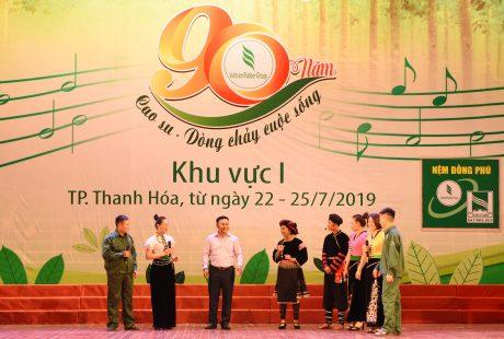 Vở kịch Ánh sáng vùng cao sủ Cao su Điện Biên gây khá nhiều ấn tượng cho BGK và khán giả