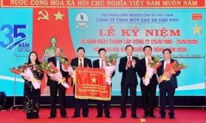 Lãnh đạo công ty nhận cờ thi đua xuất sắc của Chính phủ năm 2018