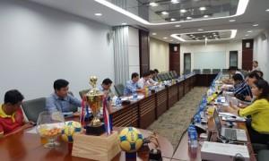 Quang cảnh Lễ công bố và bốc thăm giải bóng đá THANH NIÊN - VRG CUP năm 2019