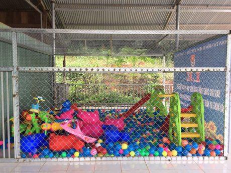 Công trình này có nhiều hạng mục, tạo không gian vui chơi lành mạnh cho các em thiếu nhi