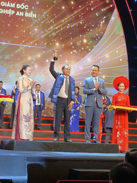 Anh Trần Quốc Thái – TGĐ Công ty CP KCN An Điền tại lễ vinh danh