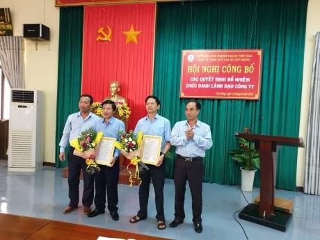 Trao Quyết định bổ nhiệm thành viên Hội đồng Thành viên cho ông Trần Trung Căn và ông Vũ Ngọc Thuấn