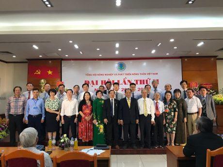 Ban Chấp hành Tổng hội NN&PTNT VN nhiệm kỳ mới ra mắt Đại hội.